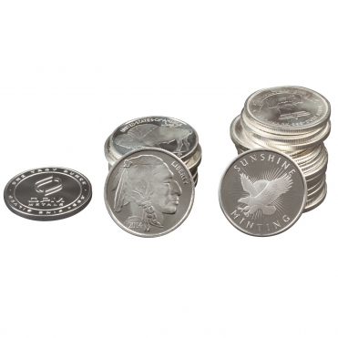 Silver Round Stack